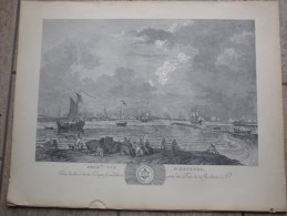 Premiere Vue D'Ostende Par L.J.Masquelier 1737 - Litografía