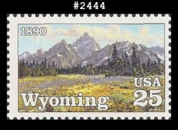 USA**WYOMING STATEHOOD-1990-MNH-MOUNTAIN LANDSCAPE-2444 - Estados Unidos