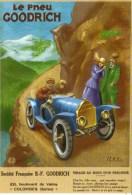 Le Pneu Goodrich  - 1917 - Modern Ad Art Card  - CPM - Voitures De Tourisme