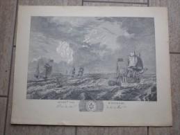 Seconde Vue D´Ostende Par L.J.Masquelier 1737 - Litografía