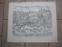 Le Koert De Bruxsellis, Het Hertogelijk Paleis Te Brussel, Gravure Door Excudebat Romboutuis - Lithographies
