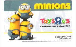 Germany - Carte Cadeau - Gift Card - Toys R Us - Minions - Comic - Film - Cinema - Frankreich