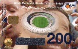 Algérie Télécarte Oria Sport Football Stade Maracana Rio De Janeiro Brésil - Algérie