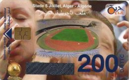 Algérie Télécarte Oria Sport Football Stade 5 Juillet Alger Algérie - Algérie