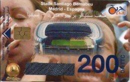 Algérie Télécarte Oria Sport Football Stade Santiago Bernableu Madrid Espagne - Algérie