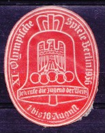 Adveritisement Label Berlin Olympics 1936 - Summer 1936: Berlin