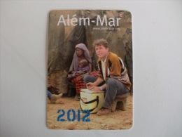 Missionários Combonianos Além Mar Portugal Portuguese Pocket Calendar 2012 - Calendarios
