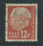 Saar 1957 Usato - Mi.414 - 1957-59 Federazione