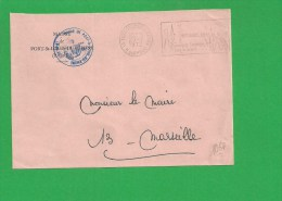 LETTRE BOUCHES DU RHONE PORT SAINT LOUIS Secap Camargue Sauvage Tad à Gauche En Franchise - Marcofilia (sobres)