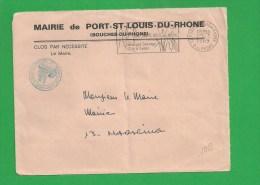 LETTRE BOUCHES DU RHONE PORT SAINT LOUIS Secap Camargue Sauvage Tad à Droite En Franchise - Storia Postale