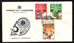 SOMALIA - 1968 - FDC - ORGANIZZAZIONE MONDIALE DI SANITA´ - 20° ANNIVERSARIO - Somalia (1960-...)