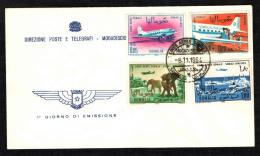 SOMALIA - 1964 - FDC - LINEE AEREE - Somalia (1960-...)