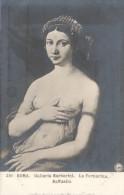 CPA  PHOTO FEMME SEINS NU ROMA GALLERIA BARBERINI LA FORNARINA RAFFAELLO - Musées