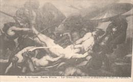 CPA  BRUXELLES MUSEE WIERTZ LES GRECS ET LES TROYES SE DISPUTANT LE CORPS DE PATROCLE - Musées