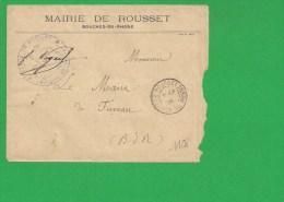 LETTRE BOUCHES DU RHONE ROUSSET  1901 En Franchise - Storia Postale