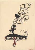 CPA ILLUSTRATEUR CARTE SILHOUETTE  ** GEORG RITSCHKE  **  SILHOUET SHADOW CARD  ARTIST SIGNED - Silhouettes