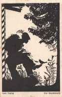 CPA ILLUSTRATEUR CARTE SILHOUETTE  **  LOTTE NICKLASS **  SILHOUET SHADOW CARD  ARTIST SIGNED - Silhouettes