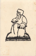 CPA ILLUSTRATEUR CARTE SILHOUETTE  **  A M SCHWINDT PERE NOEL **  SILHOUET SHADOW CARD  ARTIST SIGNED - Silhouettes