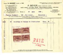 MUSIQUE PIANOS - Facture Maison Gevaert , Successeur P. Beyer à GAND 1926 --  22/502 - Belgium