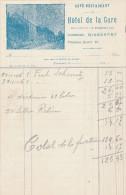 HOTEL DE LA GARE à RIXENSART - Facture Illustrée 191.  --  22/503 - Sports & Tourisme