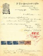 EBENISTERIE D´ART Van Hoeylandt § Fils à TAMISE - Facture Illustrée + Fiscaux 1926  --  22/507 - Belgium