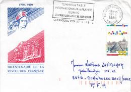 TABLE TENNIS-TISCHTENNIS-PING PONG-TENNIS DE TABLE-TENNIS TAVOLO, FRANCE, Special Cover / Card / Stamp / Postmark !! - Tennis De Table