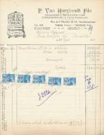 EBENISTERIE D´ART Van Hoeylandt § Fils à TAMISE - Facture Illustrée + Fiscaux 1941  --  22/508 - Belgium
