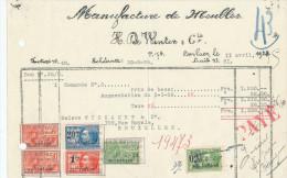 MEUBLES De Winter § Cie à BERLAER Lez LIERRE - Courrier Et Facture + Fiscaux 1929  --  22/509 - Belgium