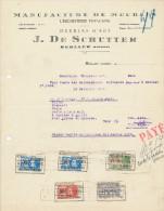 MEUBLES De Schutter à BERLAER Lez LIERRE - Facture + Fiscaux 1928  --  22/510 - Belgium