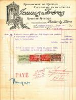 MEUBLES Jennes Frères à BERLAER Lez LIERRE - Facture Illustrée + Fiscaux 1926  --  22/511 - Belgium