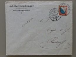 SUISSE / SCHWEIZ / SVIZZERA / SWITZERLAND // 1920, Lettre - Brief, Mit 10Rp. PRO JUVENTUTE, Herzogenbuchsee - Ruswyl - Pro Juventute