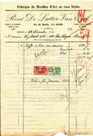 MEUBLES D' ART De Latter - Van Eyck à EECLOO - 3 Factures Différentes + Fiscaux 1929/32/37  --  22/512 - Belgium