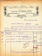 MEUBLES D´ ART Dobbelaere à EECLOO - 2 Factures Différentes + 1 Fiscaux 1922/27  --  22/513 - Belgium
