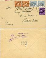 K3545 Brief All. Bes. St. Weimar N. Paris Frankreich - Zone AAS
