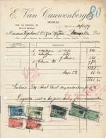 MEUBLES Van Cauwenberghe-De Muynck à EECLOO - 2 Factures + Fiscaux 1925/29  --  22/516 - Belgium