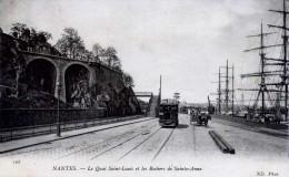 CP DEPT 44   NANTES   LE QUAI SAINT LOUIS  ET LES ROCHERS DE SAINTE ANNE - Nantes