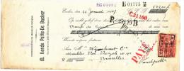 MEUBLES D' ART Vande Putte- De Backer à EECLOO - 1 Facture + Fiscaux Et 1 Chèque 1927  --  22/517 - Belgium