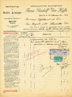 MEUBLES D´ ART Rudolf Van Hyfte à EECLOO - 2 Factures + Fiscaux 1923/29  --  22/518 - Belgium
