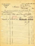 MEUBLES D´ ART Sylvain Van Zele à EECLOO - 2 Factures + 1 Fiscaux 1922/23  --  22/521 - Belgium