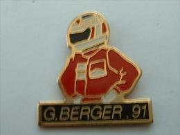 PIN´S F1 - G.BERGER 91 - F1