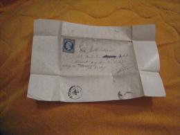 LETTRE ANCIENNE DE 1855. / LAFLACHERE A VICHY. / CACHETS + TIMBRE + OBLITERATION A IDENTIFIER. - Marcophilie (Lettres)