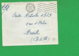 LETTRE BOUCHES DU RHONE TARASCON Secap Ondulé Tad à Gauche En Franchise - Marcophilie (Lettres)