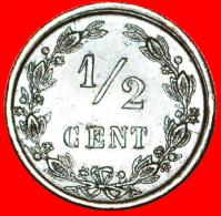 ★RAMPANT LION: NETHERLANDS ★ 1/2 CENT 1884! LOW START★NO RESERVE! Willem III (1849-1890) - [ 3] 1815-… : Reino De Países Bajos