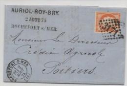 LETTRE  ROCHEFORT SUR MER N°3171  DE 1874 - Marcophilie (Lettres)