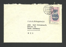 Used Cover From Czechoslovakia To Germany, 1969 - Postal Stationery