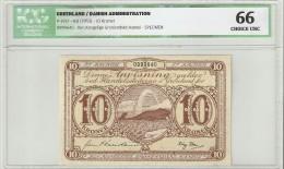 Greenland 10 Kroner  1953 SPECIMEN P19s2  Graded 66 By ICG - Groenlandia