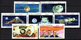 CUBA \ 1972 - Cosmos - 7v Obl. - Espacio