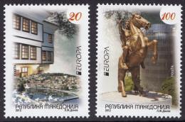 Macedonia 2012 Europa CEPT, Visit .... Architecture, Horse, Set MNH - 2012