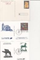 LOT DE 6 ENTIERS POSTAUX -EDITE PAR L'IMPRIMERIE DES TIMBRES POSTE DE PERIGUEUX -ANNEE 1993-2001