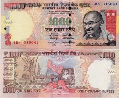INDIA      1000 Rupees      P-107      2015       UNC  [ Sign. Rajan - Letter R ] - India